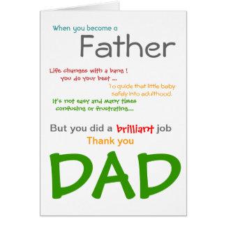 Zijnd een DAD- Kaart van het Vaderdag