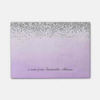 Zilver en Paarse Nota's Ombre Post-it® Notes
