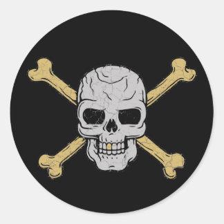 Zilver & Goud Ronde Sticker