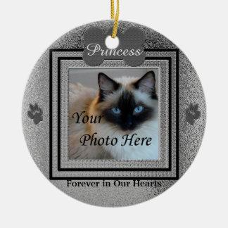 Zilver van de Douane van de hond of van de Kat het Rond Keramisch Ornament
