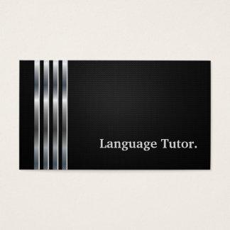 Zilver van de Privé-leraar van de Vreemde taal het Visitekaartjes