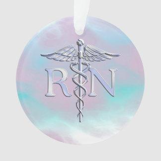 Zilver zoals Caduceus van RN de Medische Parel van Ornament