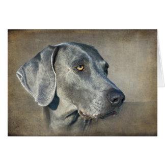 Zilveren Blauw Portret Weimaraner Briefkaarten 0
