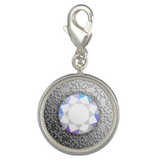 Zilveren Damast met een halfedelsteen van de Foto Charms