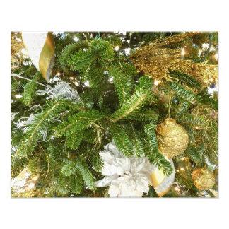 Zilveren en Gouden Kerstboom I Foto Prints