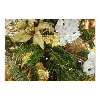 Zilveren en Gouden Kerstboom II Vakantie Fotoprints