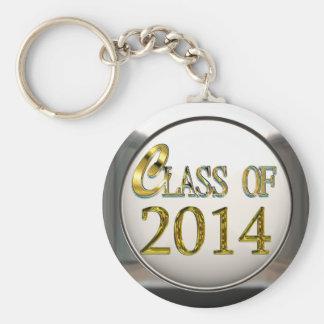 Zilveren en Gouden Klasse van 2014 Keychain Sleutelhanger
