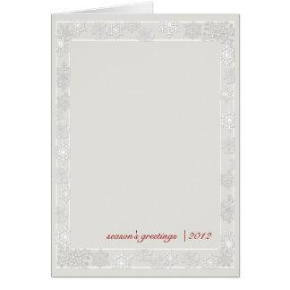 Zilveren en Witte Van de Bedrijfs sneeuwvlok Briefkaarten 0