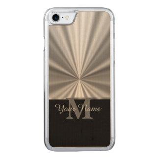 Zilveren faux metaal zwart monogram Carved iPhone 8/7 hoesje