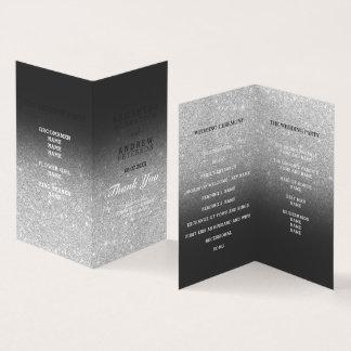 Zilveren faux schittert het grijze programma van kaart