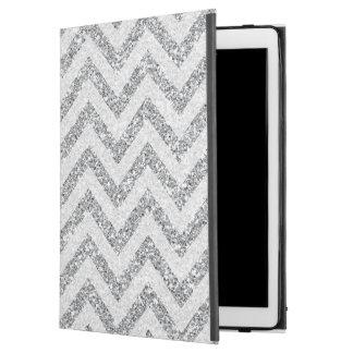 Zilveren faux schittert iPad Prohoesjechevron