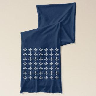 Zilveren fleur-DE dat op Sjaal in Marineblauw Sjaal