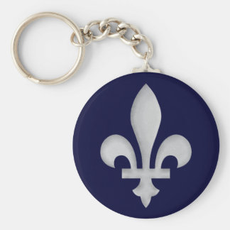 Zilveren fleur-DE Keychain Sleutelhanger