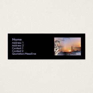 Zilveren Gargouille, sjabloon Mini Visitekaartjes