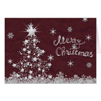 Zilveren Kerstboom Kaart