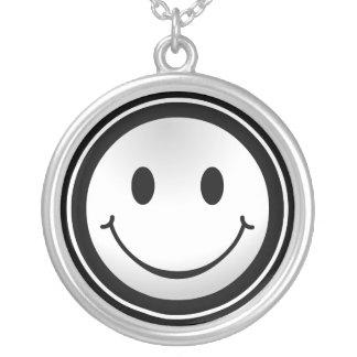 Zilveren ketting van het Gezicht van Smiley het Ge