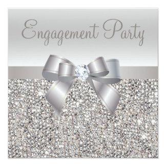 Zilveren Lovertjes, de Partij van het Verloving Kaart