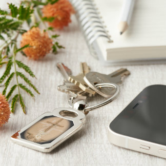 Zilveren metaal keychain