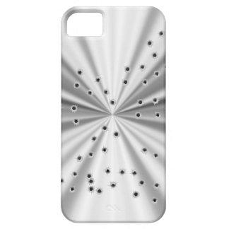 Zilveren metaal ziet eruit & bullet gaten barely there iPhone 5 hoesje