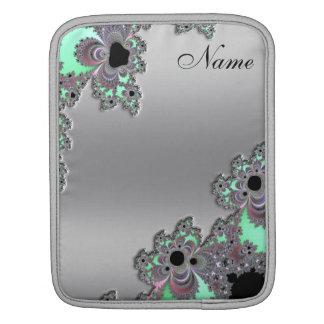 Zilveren MetaalFractal Gepersonaliseerd iPad Sleeve Voor iPad