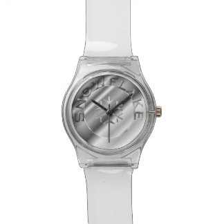 Zilveren Sneeuwvlok Horloge