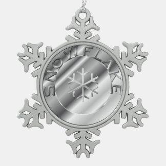 Zilveren Sneeuwvlok Tin Sneeuwvlok Ornament