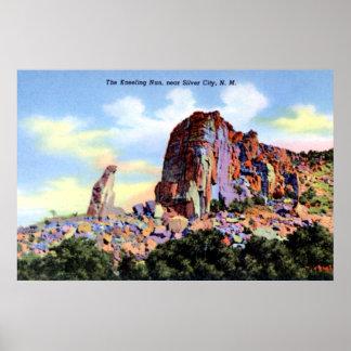Zilveren Stad New Mexico de Knielende Non Poster