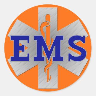 Zilveren Ster van het Leven met Blauw EMS Ronde Sticker