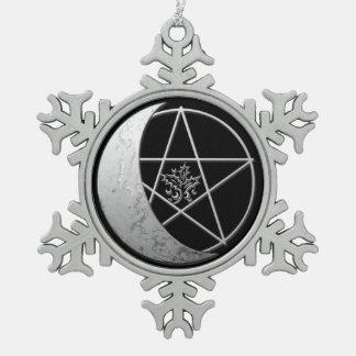 Zilveren Toenemende Herinnering 1 van de Maan & Tin Sneeuwvlok Ornament