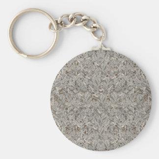 Zilveren Tropische Druk Basic Ronde Button Sleutelhanger