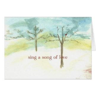 zing een lied van liefde kaart