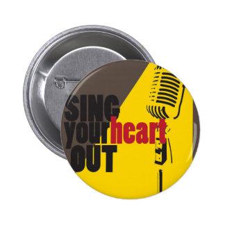 zing uit uw hart ronde button 5,7 cm