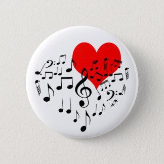 Zingend Hart one-of-a-kind romantische mooi Ronde Button 5,7 Cm