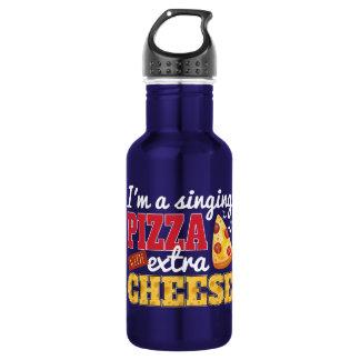 Zingende Pizza met Extra Kaas Waterfles