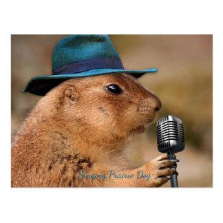 Zingende Prairiehond Briefkaart