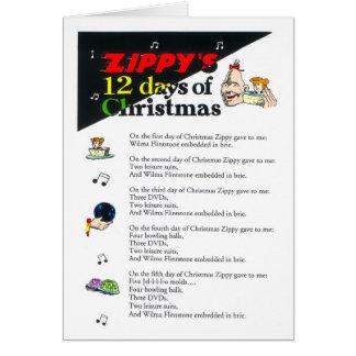 Zippy 12 Dagen van Kerstkaart Wenskaart