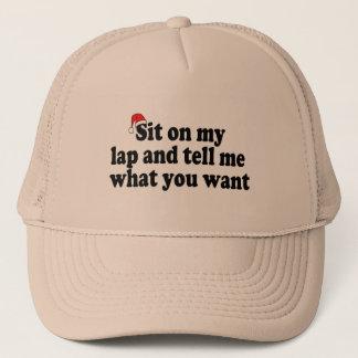 Zit op Mijn Overlapping en vertel me Wat u wilt Trucker Pet
