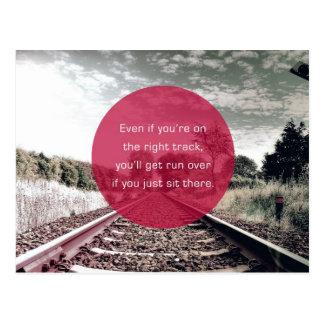 Zit | op zijn plaats geen Motivatie Citaat Briefkaart