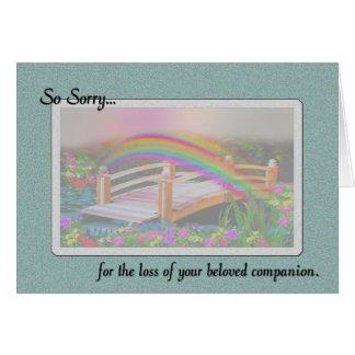 Zo Droevig voor het verlies van de Sympathie van Briefkaarten 0