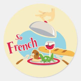 Zo Frans Ronde Sticker