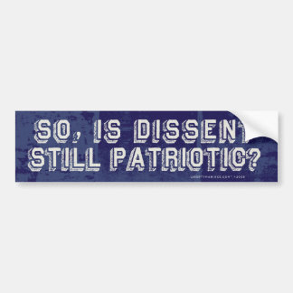 Zo, is nog Patriottisch Verschil van mening? De St Bumpersticker