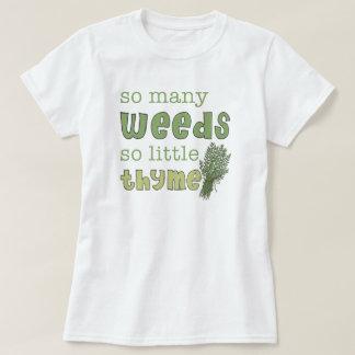 Zo Veel Grappig het Tuinieren van het Onkruid Baby T Shirt