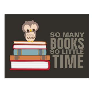 Zo Vele Boeken zo Weinig Boek Nerd van de Uil van  Briefkaart