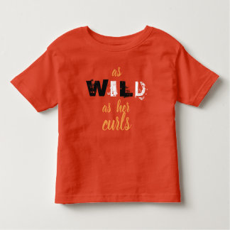 Zo Wild zoals Haar Overhemd van Krullen Kinder Shirts