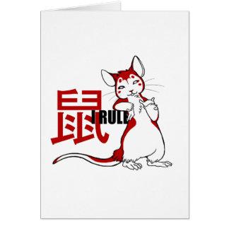 Zodiac- I de Rat van de Regel Briefkaarten 0
