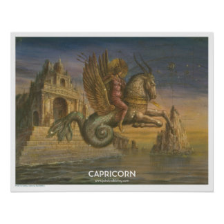 Zodiac Poster - Capricorn