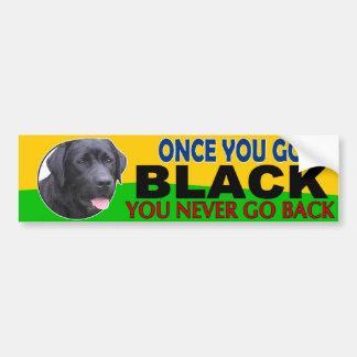 Zodra u… Zwart gaat Laboratorium Bumpersticker