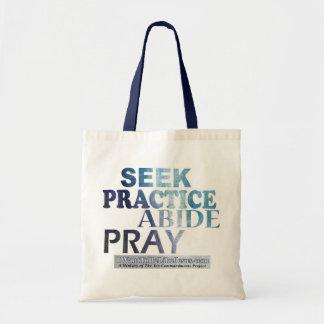 Zoeken-praktijk-ver*blijven-bid Canvas tas