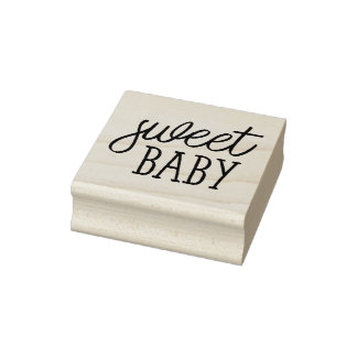 Zoet Baby, Baby shower Rubberenstempel
