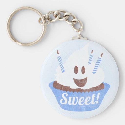 Zoet! (Blauwe) Cupcake Sleutel Hangers